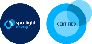 Spotlight Reporting Certified logo